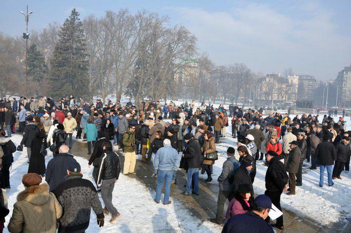 Мълчалив протест с плакати 09.01.2011 г. (3/6)