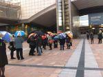 Флашмоб акция в подкрепа на студентите от Хонг Конг